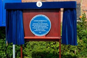 James Horsfall, Blue Plaque