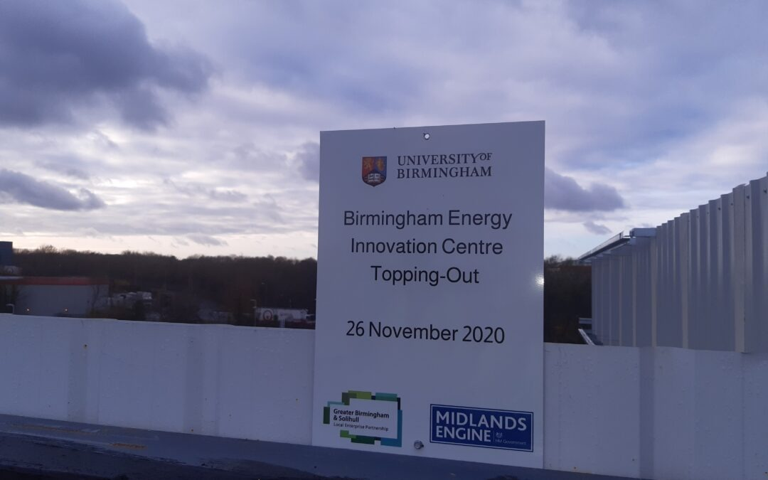 Topping out ceremony marks key milestone for Energy Innovation in Birmingham