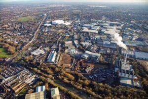 Aerial view of Tyseley Energy Park